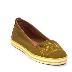 Tory Burch Olive Green Slip On Sneaker